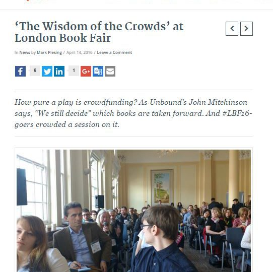'The Wisdom of the Crowds' at London Book Fair