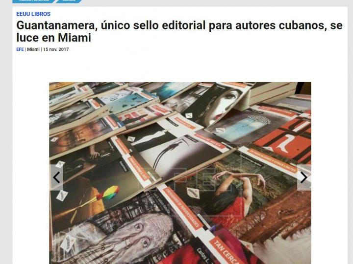 Guantanamera, único sello editorial para autores cubanos, se luce en Miami