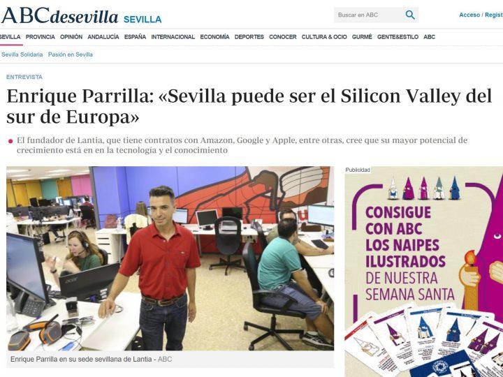 Lantia en ABC de Sevilla. Entrevista a Enrique Parrilla