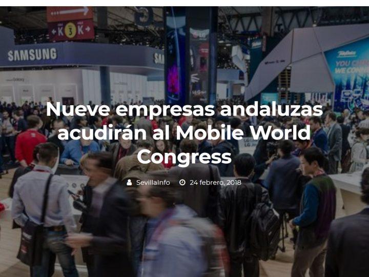 Nueve empresas andaluzas acudirán al Mobile World Congress. Lantia IOT entre ellas.